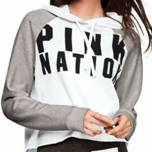 PINK nation long sleeve shirt with hood